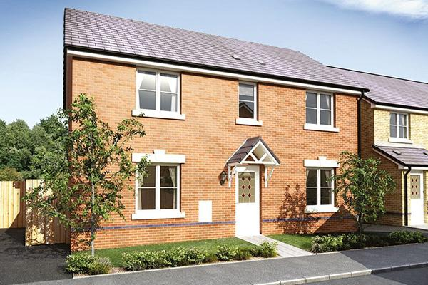 Image of a new build house on the Hawtin Meadows development in Blackwood.