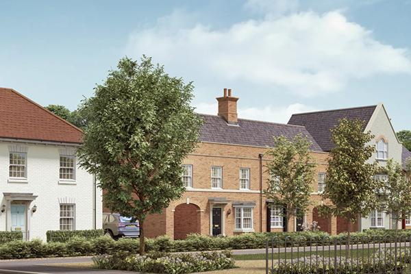 Image of a new build house on the Davidsons at Houlton development in Rugby.