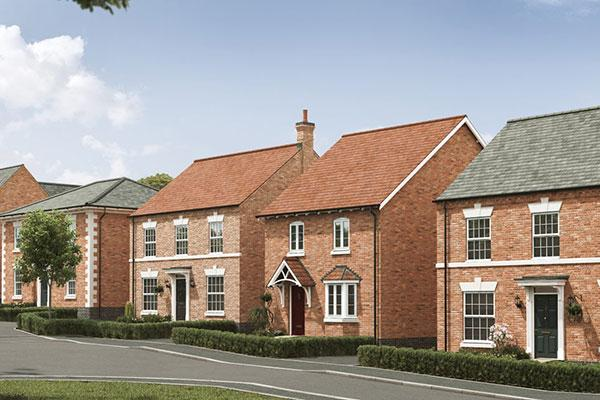 Image of a new build house on the Hilltop Park development in Melton Mowbray.