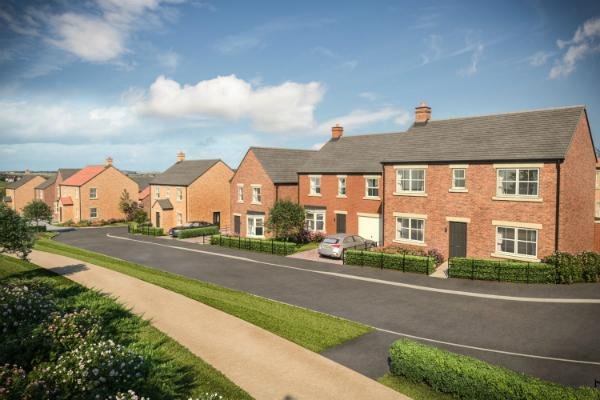 Image of a new build house on the Meadow Hill development in Throckley.