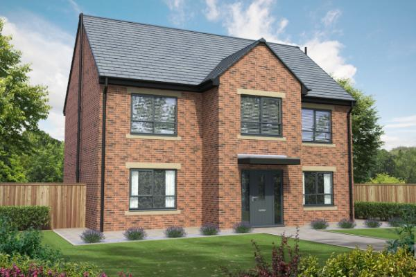 Image of a new build house on the Howards Green development in Darlington.