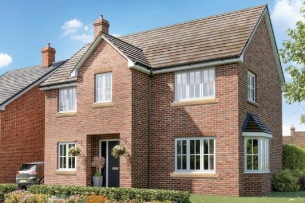 Image of a new build house on the Three J's development in Abberley.