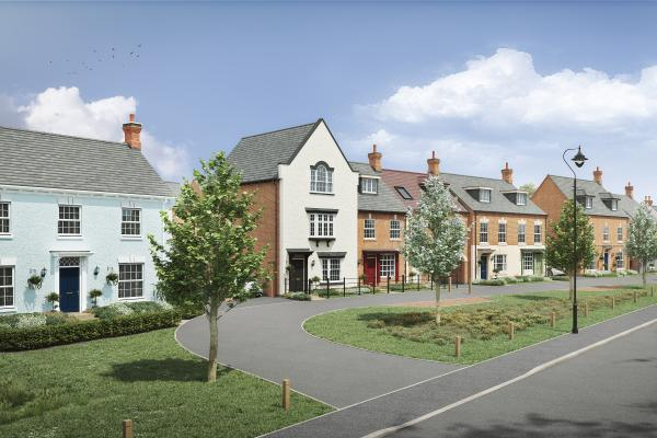 Image of a new build house on the Wellington Place development in Market Harborough.